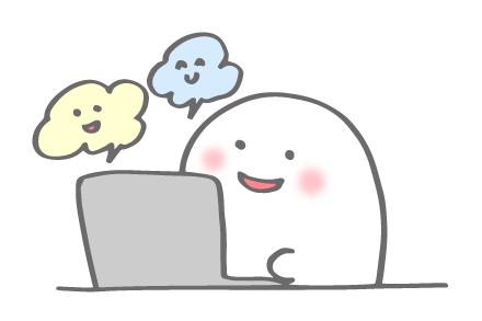オンラインでお話するばけふわ